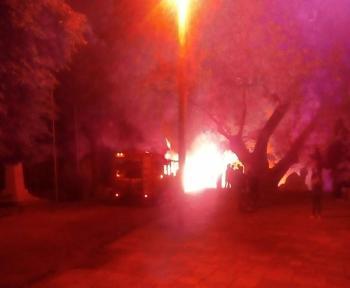 Πυρκαγιά εκδηλώθηκε σήμερα σε πρανές στα όρια του Δημοτικού πάρκου Νάουσας