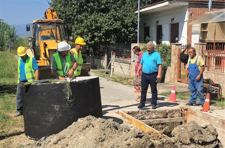 Ξεκίνησαν οι εργασίες για την κατασκευή του Αποχετευτικού δικτύου της Δημοτικής Κοινότητας Μελίκης