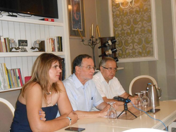 Συνέντευξη τύπου του επικεφαλής της Λαϊκής Ενότητας Π. Λαφαζάνη στη Βέροια