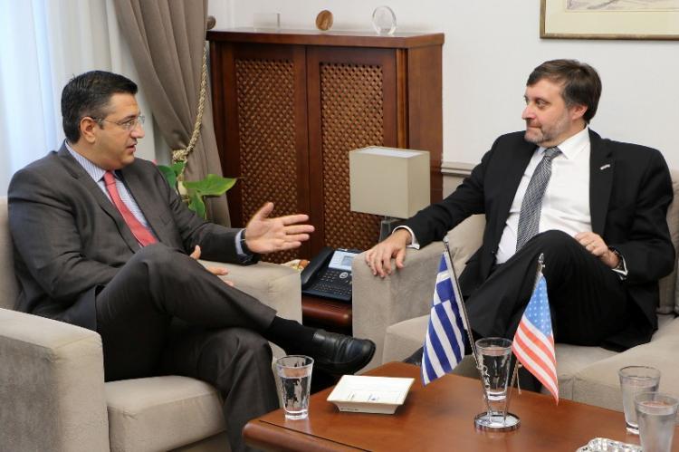 Συνάντηση του Περιφερειάρχη Κ. Μακεδονίας Απ.Τζιτζικώστα με το β. Αναπληρωτή Υπ. Εξωτερικών των ΗΠΑ M. Palmer