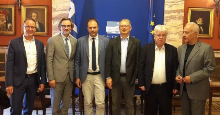 Συνάντηση του Θανάση Θεοχαρόπουλου με αντιπροσωπεία του SPD