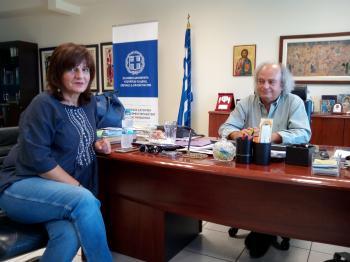 Επίσκεψη Φρ. Καρασαρλίδου στον Περιφερειακό Δ/ντή Εκπαίδευσης για θέματα παιδείας της Ημαθίας