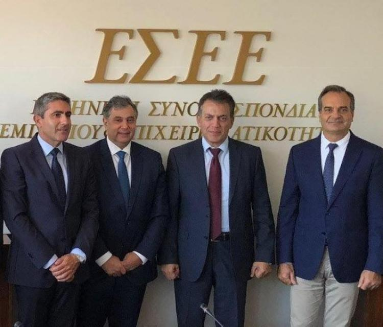 Η ΕΣΕΕ και η Νέα Δημοκρατία ανταλλάσσουν απόψεις για τα ασφαλιστικά και εργασιακά θέματα