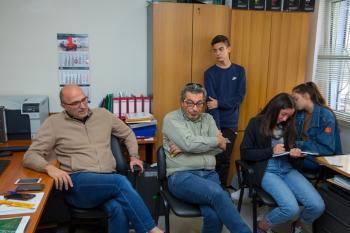 Συνέντευξη μαθητών του 5ου ΓΕΛ Βέροιας με το Διευθυντή και τον Πρόεδρο της Δ.Ε.Υ.Α.Β.