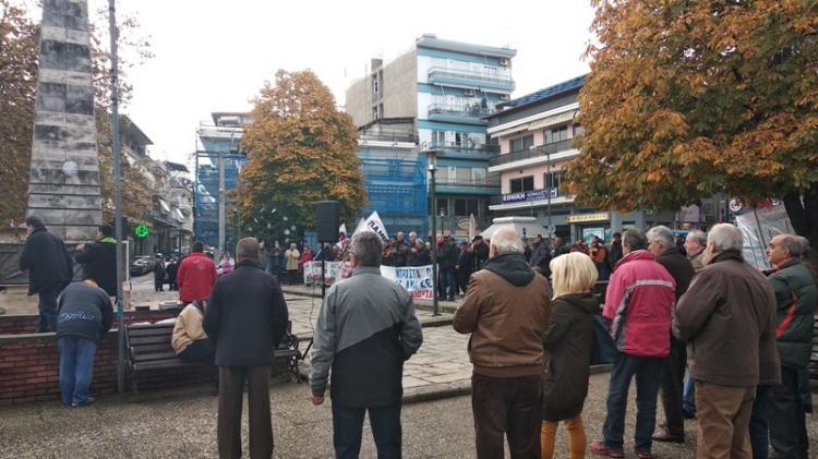 Διαμαρτυρίες εργαζομένων και συνταξιούχων στη Νάουσα