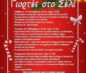 Εορταστικές Εκδηλώσεις στο Σέλι από τον ΠΤΟΣ, τον Δήμο Βέροιας και την ΠΕ Ημαθίας