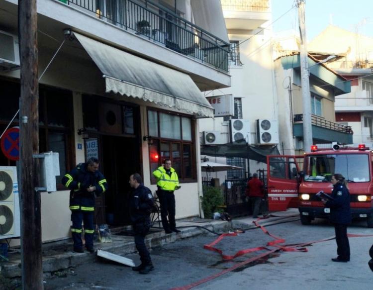 Πυρκαγιά σε καφενείο της Βέροιας