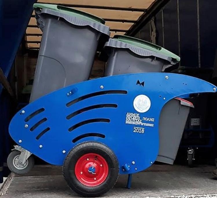 Εξοπλισμός υπηρεσίας καθαριότητας του Δήμου Νάουσας με 16 ολοκαίνουργια καρότσια αποκομιδής απορριμμάτων