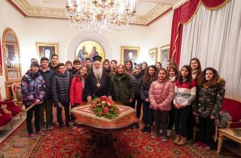 Τα κάλαντα των Χριστουγέννων έψαλαν στο Μητροπολίτη Βεροίας κ. Παντελεήμονα