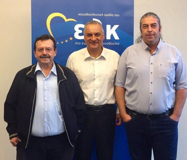 Με τον ευρωβουλευτή Μ. Κεφαλογιάννη συναντήθηκαν οι Χρ. Γιαννακάκης και Ν. Κουτλιάμπας