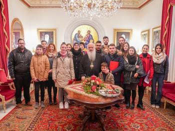 Πρωτοχρονιάτικα κάλαντα, δώρα για τα παιδιά των ιερέων και κοπή βασιλόπιτας στην Ιερά Μητρόπολη