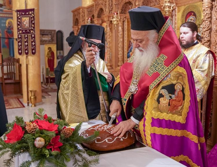 Εσπερινός της Περιτομής του Κυρίου και του Μ. Βασιλείου στη Χαλάστρα