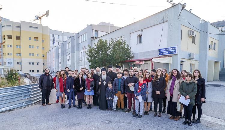 Δίπλα στους ασθενείς του Νοσοκομείου Βεροίας την Πρωτοχρονιά ο Μητροπολίτης κ. Παντελεήμων