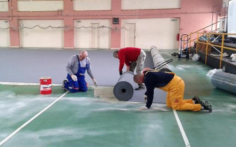 Εργασίες για την υλοποίηση του έργου «Επανακατασκευή δαπέδου κλειστού γυμναστηρίου 2ου Γυμνασίου - Λυκείου Αλεξάνδρειας»