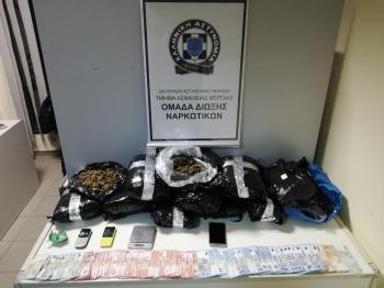 Συνελήφθησαν 3 άτομα για διακίνηση ναρκωτικών, κατασχέθηκαν περισσότερα από 11 κιλά κάνναβη