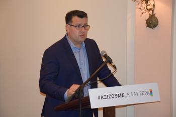 Την ιδρυτική διακήρυξη του συνδυασμού του παρουσίασε ο υποψήφιος δήμαρχος Αλεξάνδρειας Κώστας Ναλμπάντης