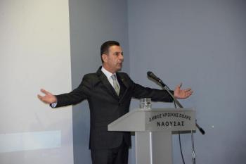 Πολιτική ομιλία του κόμματος «Θεσμός» πραγματοποιήθηκε την Κυριακή στη Νάουσα