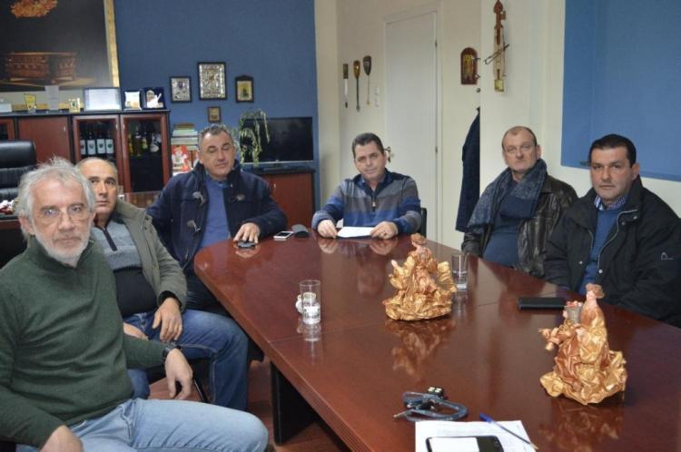 Συνάντηση Καλαϊτζίδη με εκπροσώπους του Αγροτικού συλλόγου γεωργών Βέροιας