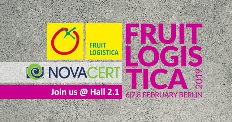 Με τη NOVACERT στη Διεθνή Έκθεση Fruit Logistica 2019