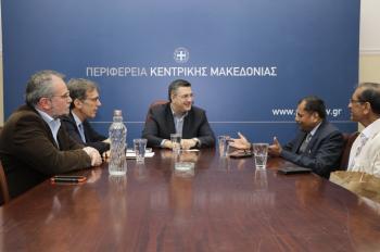 Συνάντηση του Περιφερειάρχη Κ.Μακεδονίας Απ.Τζιτζικώστα με στελέχη του Οργανισμού Προώθησης Εξαγωγών της Ινδίας