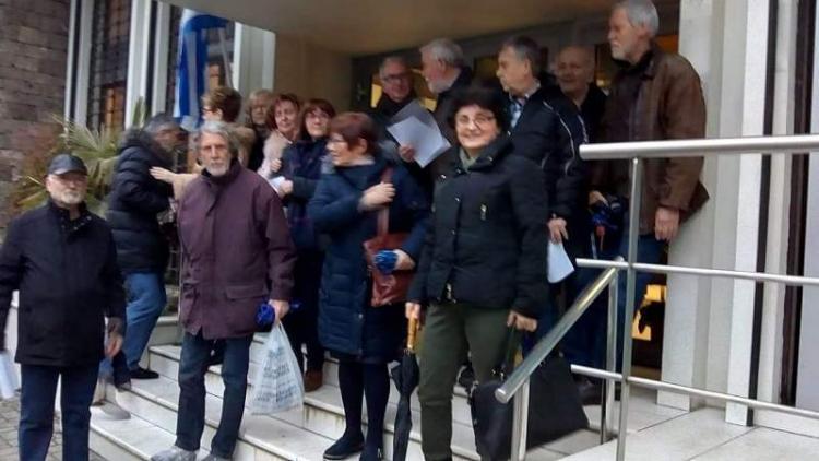 Διαμαρτυρία συνταξιούχων Εθνικής Τράπεζας πραγματοποιήθηκε την Τετάρτη 6 Φεβρουαρίου
