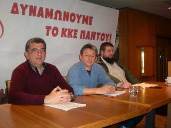 Πραγματοποιήθηκε χθες η εκδήλωση της «Λαϊκής Συσπείρωσης» με ομιλητές τους Γ. Μελιόπουλο και Γ. Τσεχελίδη