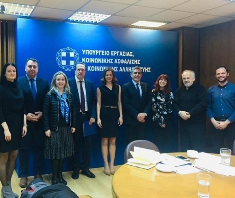 Συνάντηση ΕΣΕΕ με Υπουργό Εργασίας Έφη Αχτσιόγλου
