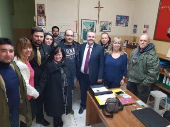 Επίσκεψη Γιάννη Παπαγιάννη στο Συνεταιρισμό Ταξί Βέροιας