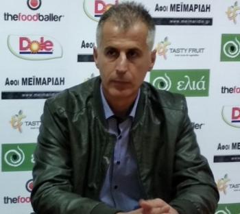 Δήλωση του Σ. Θεοδοσιάδη, προπονητής Βέροιας, μετά τον αγώνα με τη Νίκη Αγκαθιάς