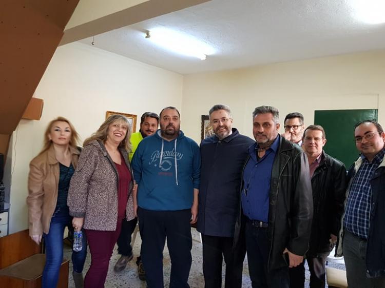 Συνάντηση Γιάννη Παπαγιάννη με το διοικητικό συμβούλιο των εργαζομένων του Δήμου Βέροιας