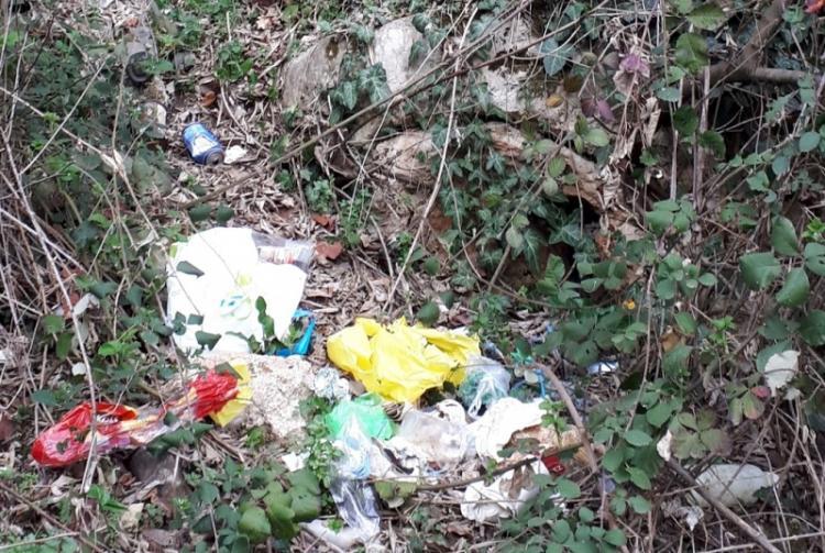 Σκουπίδια στον αρχαιολογικό χώρο της Σχολής του Αριστοτέλη