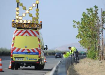 Κυκλοφοριακές ρυθμίσεις λόγω εργασιών αντικατάστασης των υφιστάμενων στηθαίων ασφαλείας οδικού δικτύου Π.Ε. Ημαθίας
