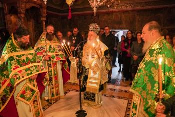 Εορτάστηκε η μνήμη του Οσίου Χριστοδούλου του εν Πάτμω στην Ιερά Μονή Αγίων Πάντων Βεργίνης