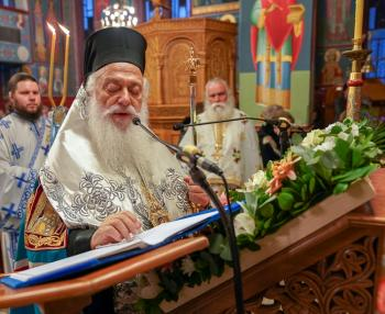 Α' Στάση των Χαιρετισμών της Υπεραγίας Θεοτόκου στη Χαλάστρα. Εγκαίνια της «Τράπεζας Αγάπης» (Συσσίτιο) της ενορίας
