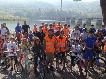Ποδηλατοπορεία στο φράγμα Αλιάκμονα για τον εορτασμό της «ημέρας χωρίς αυτοκίνητο»