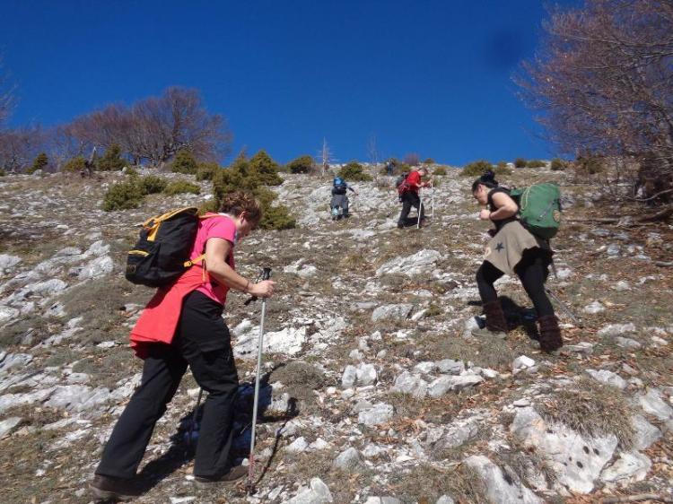 ΠΑΪΚΟ = ΑΡΑΧΝΗ, Κορυφή Γκόλα – Τσούκα (γυμνό ύψωμα) 1657 μ., Κυριακή 17 Μαρτίου 2019, με τους Ορειβάτες Βέροιας