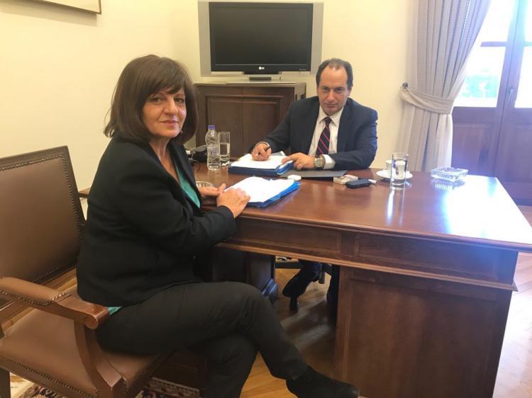 Η Φρόσω Καρασαρλίδου στον υπουργό Υποδομών κ. Σπίρτζη για την κάθετο προς Εγνατία
