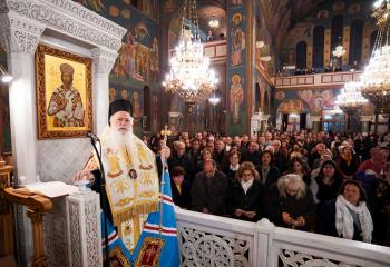 Β' Στάση των Χαιρετισμών της Υπεραγίας Θεοτόκου στον Ιερό Ναό Αγίου Νικολάου Καλλιθέας Αθηνών