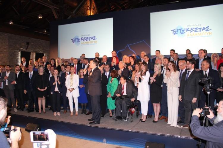 Παρουσίαση του νέου σήματος και 100 υποψήφιων περιφερειακών συμβούλων της περ/κής παράταξης «Αλληλεγγύη» από τον Α.Τζιτζικώστα