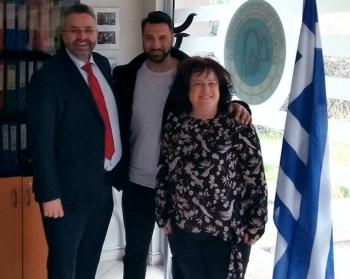 Επίσκεψη Γιάννη Παπαγιάννη στον Εμπορικό Σύλλογο Βέροιας