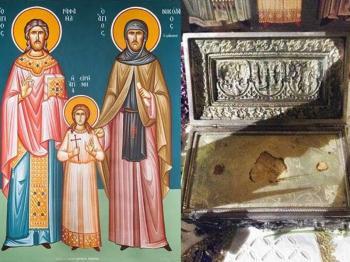 Τα Ιερά Λείψανα των Αγίων Ραφαήλ, Νικολάου &  Ειρήνης στην Πατρίδα Βέροιας