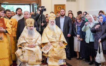Εγκαίνια Ναού του Αγίου Ανδρέα και αρχιερατικό συλλείτουργο στην Αγία Πετρούπολη