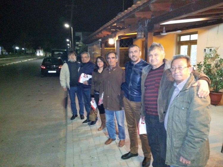 Περιοδεία κλιμακίου της «ΛΑ.Σ.» σε χωριά της Δημοτικής Ενότητας Πλατέος
