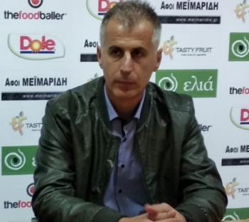 Δήλωση του Σ. Θεοδοσιάδη, προπονητής Βέροιας, μετά τον αγώνα με τον Άρη Παλαιοχωρίου