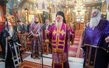 Προηγιασμένη Θεία Λειτουργία στον Ιερό Ναό των Αγίων Αποστόλων Πέτρου και Παύλου Κυμίνων