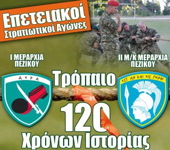 Σήμερα οι αγώνες για τα 120 χρόνια της ΙΜΠ στο στρατόπεδο «Ζαφειράκη» της Νάουσας