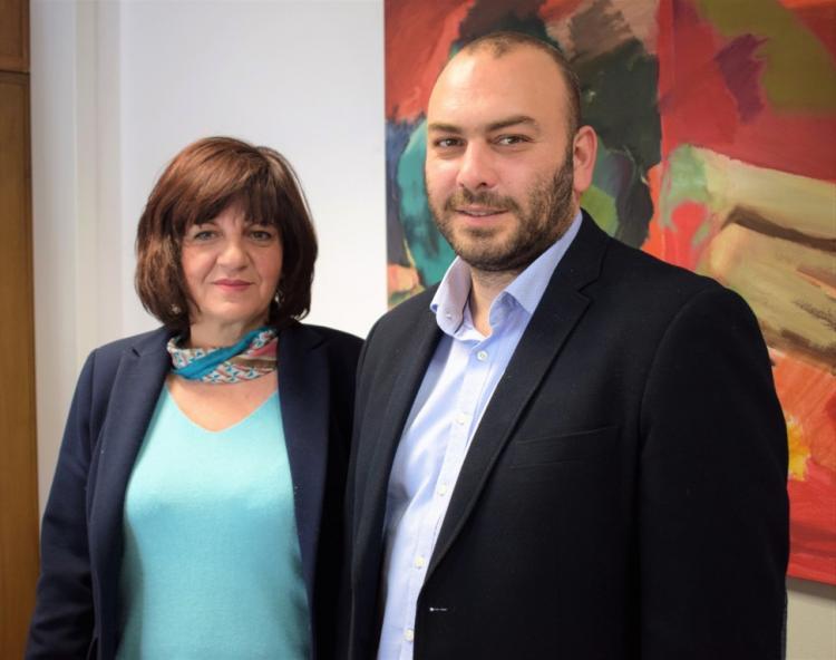 Η Φρ. Καρασαρλίδου με τον Υφυπ. Οικονομίας κ. Γιαννακίδη για τη χρηματοδότηση της σύνδεσης της Νάουσας με τον κόμβο Μονοσπίτων