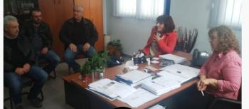 Επίσκεψη του Ενιαίου συλλόγου αγροτών Νάουσας στο υποκατάστημα του ΕΛΓΑ στη Βέροια