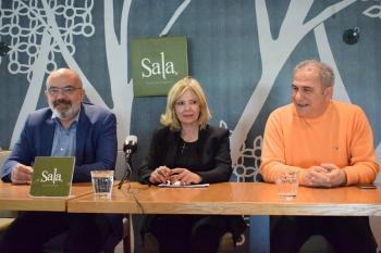 Κ.Μπαριώτας και Ε. Μπούρα σε συνέντευξη τύπου και ομιλία χθες στην «Ελιά» στα πλαίσια εκδήλωσης του ΚΙΝ.ΑΛ Ημαθίας