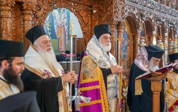 Εξόδιος ακολουθία της μητέρας του Θεοφιλεστάτου Επισκόπου Αμορίου κ. Νικηφόρου στο Άδενδρο